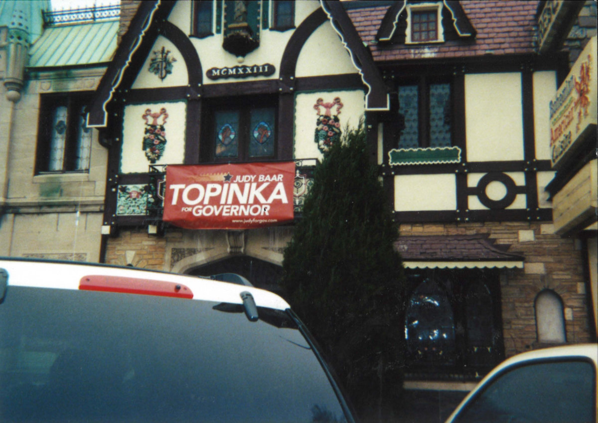 Klas Restaurant with Judy Baar Topinka Sign